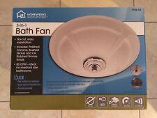 Homewerks Worldwide 7106-03 Ceiling Exhaust Fan 80 CFM w/ LED Light Free Ship!