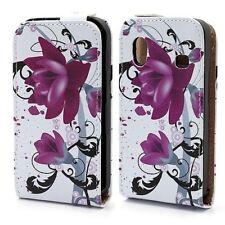 Flip Cover/Schutz-Hülle zu Samsung Galaxy Ace GT-S5830i Lotus-Blume Handytasche