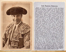 Tauromaquia Toreros Luis Fuentes Bejarano Tarjeta del año 1945 (CH-274)