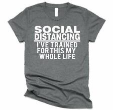 Social Distance Training T-Shirt Funny