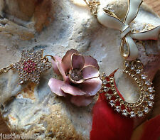 Quality Crystal Horseshoe Rose Pearl Necklace Earrings Set Mothers Wife Gift