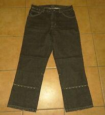 schwarze 7/8 Damen Jeans-Hose 38-40 JEANAGERS Jeanswear Capri-Jeans Stiefel-Hose