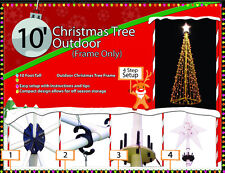 10 Foot Outdoor Commercial/Residential PVC Christmas Tree Display Frame RE-BOXED