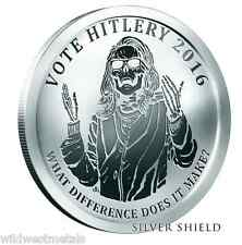 2016 1OZ Hitlery Proof - Oligarchy Series - Silver Shield *In-Hand* SBSS COA 121