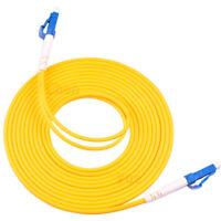 30m LC UPC to LC UPC Duplex Single Mode PVC 3.0mm Fiber Optic Patch Cord Cable