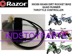 NEW! Razor MX350 MX400 Dirt PR200 Rocket Bike Scooter Twist Grip Throttle 4 Pin