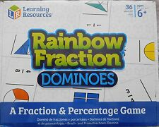 FRACTION DOMINOES & PERCENTAGES  maths games  age 6yrs+  36 dominoes
