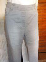 pantalon droit coton gris stretch PUNT ROMA M 44/46 Taille extensible 17ETJ65