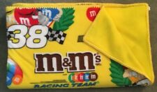 "Nascar Racing Team M&M, Large Fleece Afghan,Home Crafted, Bright Yellow 60""X70"""