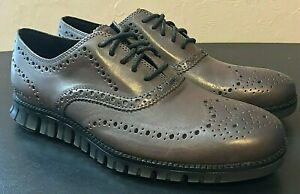 Cole Haan Zerogrand Wingtip Oxford Burnished Gray Grey C30720 - Men's 8 - New
