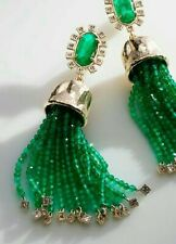 Kendra Scott Decker Statement Earrings In Emerald Green Illusion