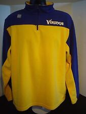 Minnesota Vikings Yellow/Purple Fleece Longsleeve Pullover - Size XL - NWT