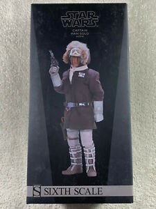 READ!!!! Sideshow Captain Han Solo Hoth Exclusive Brown Jacket Figure Star Wars