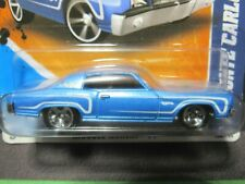 BLUE 1970 70 CHEVY MONTE CARLO MUSCLE MANIA 2001 11 SHORT CARD HOT WHEELS 1/64