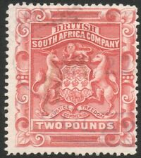 RHODESIA-1892-93 £2 Rose-Red Sg 11 FISCALLY USED V37859