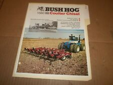 PY84) Bush Hog Sales Brochure 2 Pages - 1560 Soil Hog Coulter Chisel