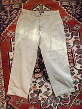 Vtg Polo Ralph Lauren Pants Khaki Flat Front Large Deep Front Pocket Men's 38x30
