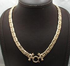 "18"" Technibond Tight Cuban Chain Necklace Black Onyx Yellow Gold Clad Silver"