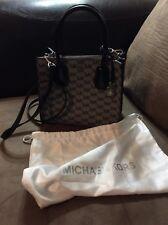 Michael Kors Mercer Medium Messenger Crossbody Bag Tote Satchel Black
