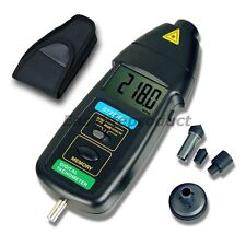 DT2236B 2in1 Digital Tachometer RPM Laser Photo Non Contact Contactless