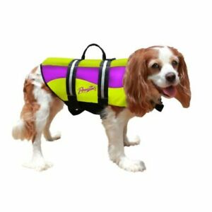 Pawz Pet Products Neoprene Dog Life Jacket Large Yellow / Purple PP-ZN1500