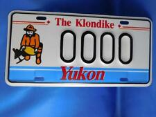 YUKON LICENSE PLATE SAMPLE 00000 KLONDIKE GOLD MINER VINTAGE SOUVENIR SIGN