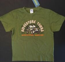 NWT GYMBOREE BOY 5 GREEN T SHIRT TEE ISLAND ADVENTURE ADVENTURE TOURS JEEP TIKI