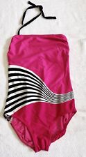 Ladies Hot Pink & Black One Piece Swimsuit By Gottex Sz 14. LKNW