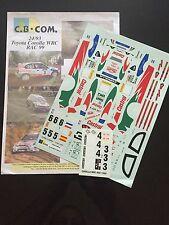 DECALS 1/24 TOYOTA COROLLA AURIOL RALLYE RAC GRANDE BRETAGNE 1999 WRC RALLY