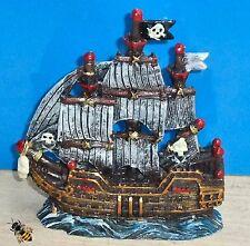 ACQUARIO Ornamento a Vela Nave Pirata Vasca dei Pesci Ciotola Decorazione Pesce Rosso Barca