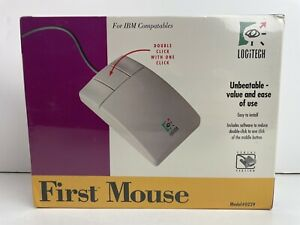 VTG Logitech First Mouse Three 3 Button Model: 0229 Serial Version NEW SEALED