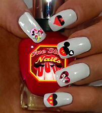 Valentine's Day Disney Hearts with Mickey And Minnie Waterslide Nails Decals 52