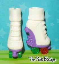 MONSTER HIGH OPERETTA ROLLER MAZE DOLL REPLACEMENT WHITE ROLLER SKATES SHOES