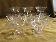 12 coupes à champagne cristal Daum nancy art deco (crystal champagne cups)