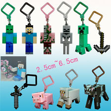 10 pcs Minecraft Toys Hanger Creeper Figure Backpack Keychain Clip 3D Toys