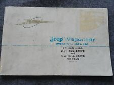 1963 1964 Jeep Wagoneer Owners Manual - Series J-100 4x2 and 4x4