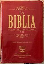Biblia Version Israelita Nazarena Letra Grande - Rojo Edición 2018
