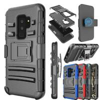 For Samsung Galaxy S9 / S9 Plus + Holster Heavy Duty W/Kickstand Belt Clip Case