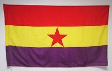 Bandera Republicana ESPAÑOLA Estrella ROJA Ejercito Popular Grande 150Cm