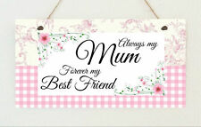 Hand Made Plaque My Mum Is My Best Friend Mothers Day Birthday Sign Present