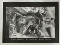 "Raymond Cruz Corchado, IV Festival Jazz Boriquen Poster, Puerto Rico Art 16""x22"""