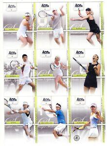 2007 Ace Authentic Straight Sets Complete Set of 50 Novak Djokovic Federer Nadal