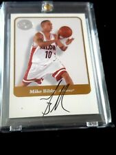 MIKE BIBBY 2001 FLEER GREATS OF THE GAME AUTOGRAPH