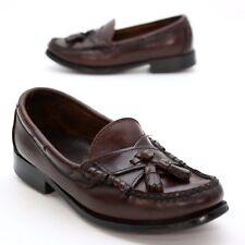 Sebago Ladies 6.5 M Handsewns Slip On Loafers Black Leather Tassel Moc Toe Shoes