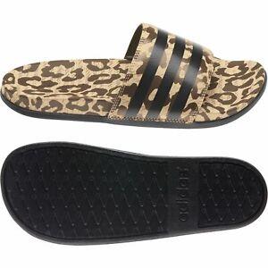 Adidas Adilette Comfort Mules Sandal Slides Cf Slippers Leo Print