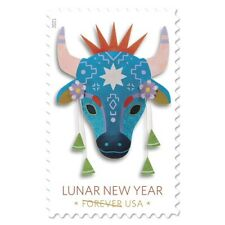 Lunar New Year. Year of the Ox 20 FOREVER STAMP SHEET