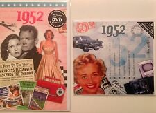1952 65th Birthday Gifts Set - 1952 DVD , Pop CD and Card - CD Card Company.