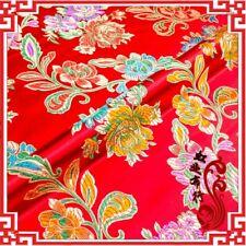 Chinese Satin Fabric Flower Brocade Silky Clothes Cheongsam Bag DIY Retro New