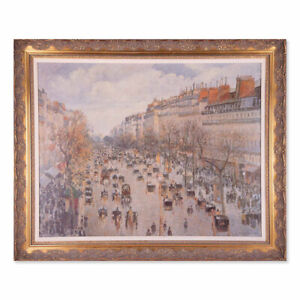 """Camille Pissarro Artagraph On Canvas """"Boulevard Montmartre On A Winter Morning"""""""