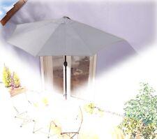 Sonnenschirm grau halbrund Kurbel Sonnenschutz Garten Balkon Terrasse günstig